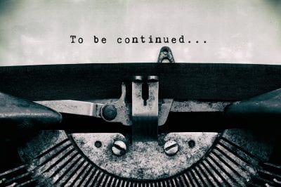 to be continued on type writer