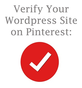 Verify your wordpress site on Pinterest