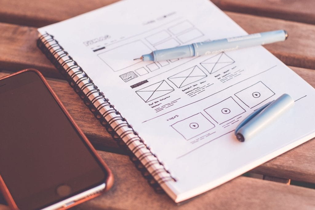 Web Design wireframe sketch